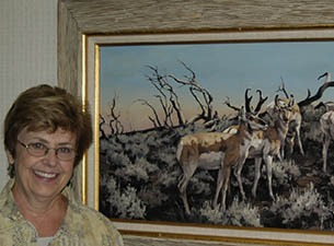 LINDA BUDGE AND HER PAINTINGS