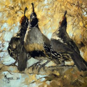 original oil painting by Linda Budge - THE golden tones